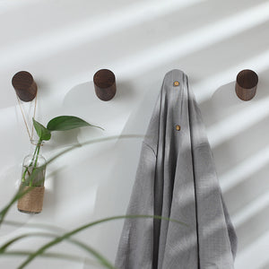Wooden Wall Hooks Small Set of 5