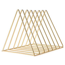 Load image into Gallery viewer, Gold Book Holder Rack Stand Organizer
