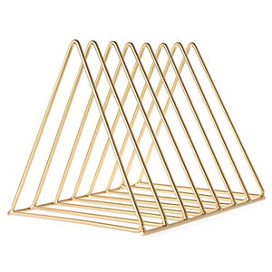 Gold Book Holder Rack Stand Organizer