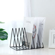 Load image into Gallery viewer, Book Holder Triangular Rack Black
