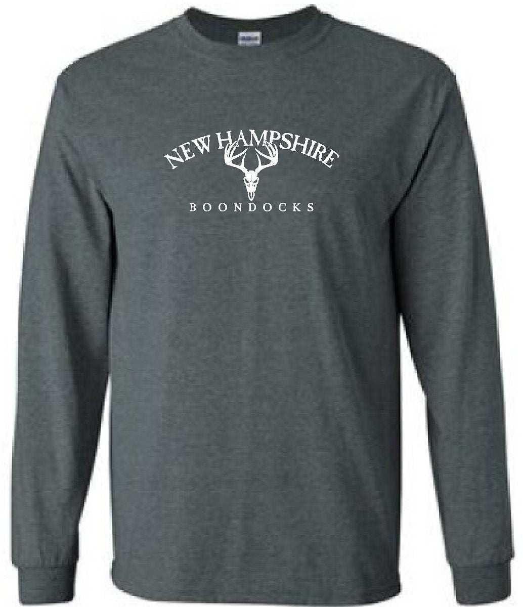 NEW HAMPSHIRE BOONDOCKS WITH DEER SKULL - CREW NECK SWEATSHIRTS