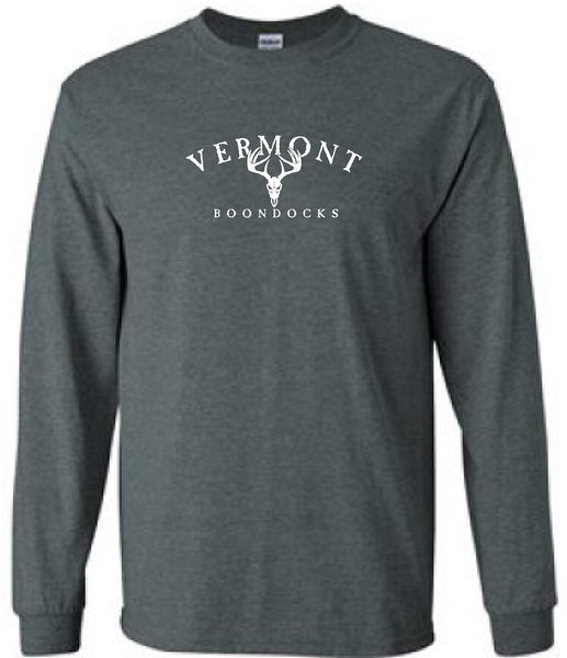 VERMONT BOONDOCKS WITH DEER SKULL Long Sleeve T-SHIRT