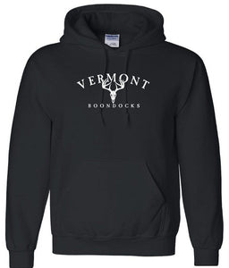 VERMONT BOONDOCKS WITH DEER SKULL Pullover Hooded Sweatshirt