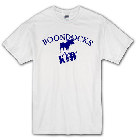 Boondocks Kid® T-shirt • Moose on White Tee