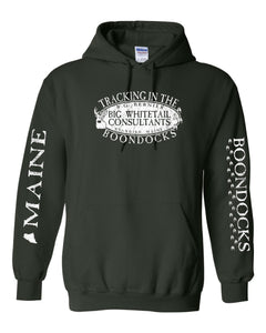 Boondocks Hooded Sweatshirt TRACKING IN THE BOONDOCKS • R.G. BERNIER MAINE