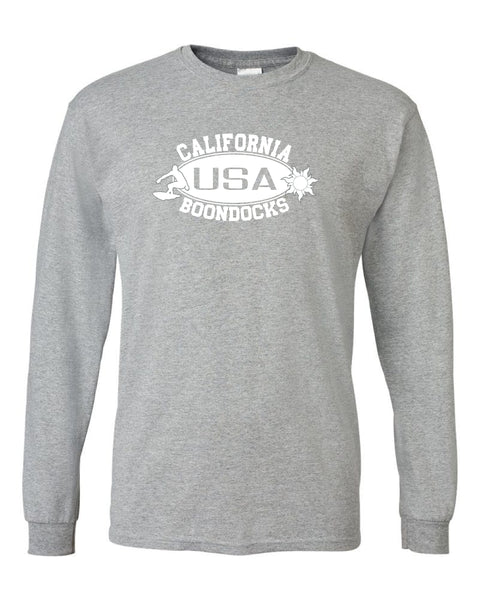 Boondocks Long Sleeve T-Shirt • CALIFORNIA Surfer & Sun logo