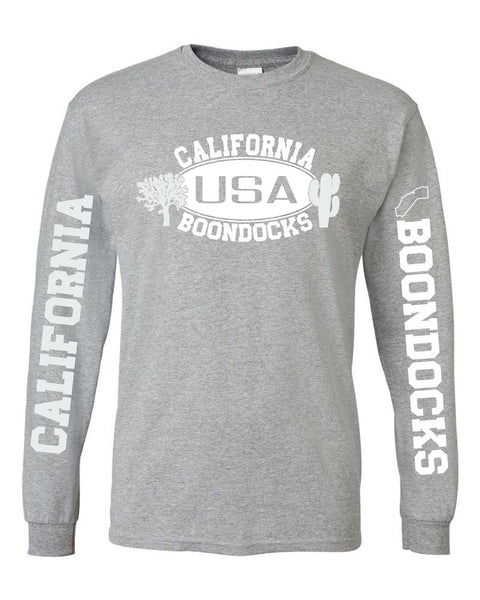 Boondocks Long Sleeve T-Shirt • CALIFORNIA Joshua Tree & Cactus Logo With Sleeve Prints