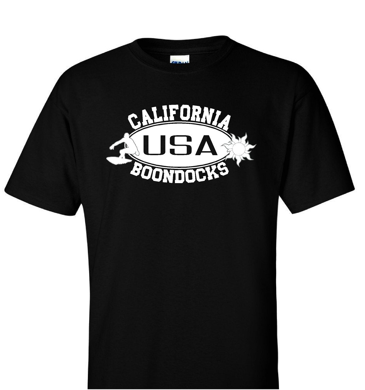 Boondocks T-Shirt • CALIFORNIA Surfer & Sun Logo