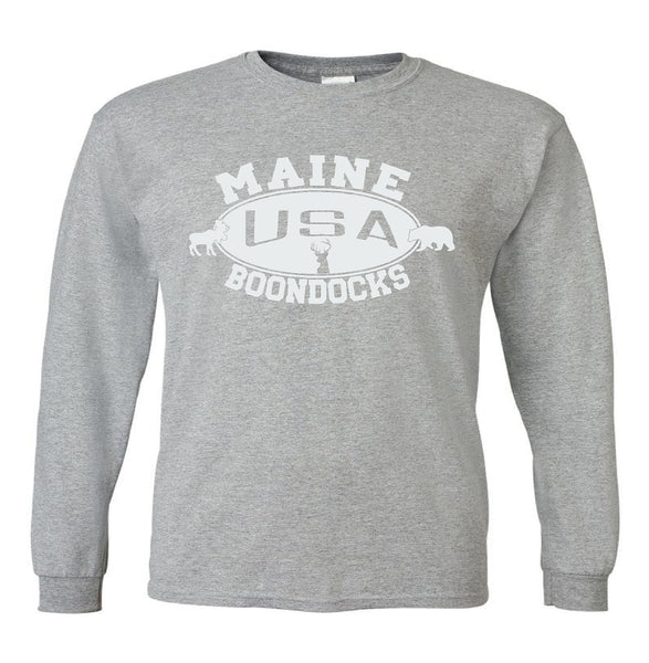 Boondocks Long Sleeve T-Shirt • MAINE Deer Bear & Moose logo