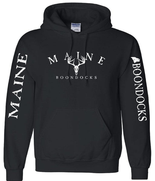 MAINE BOONDOCKS WITH DEER SKULL & SLEEVE PRINT Pullover Hooded Sweatshirt