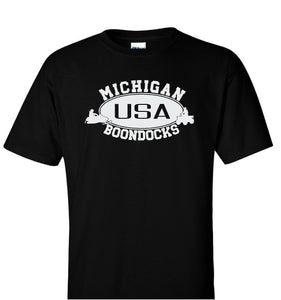 Boondocks T-Shirt • MICHIGAN Snowmobile & 4-Wheeler Logo