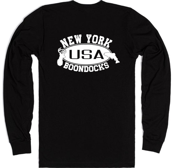 Boondocks Long Sleeve T-Shirt • NEW YORK Deer & Fish Logo