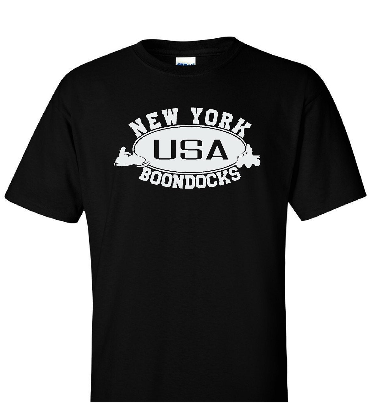 Boondocks T-Shirt • NEW YORK Snowmobile & 4-Wheeler Logo