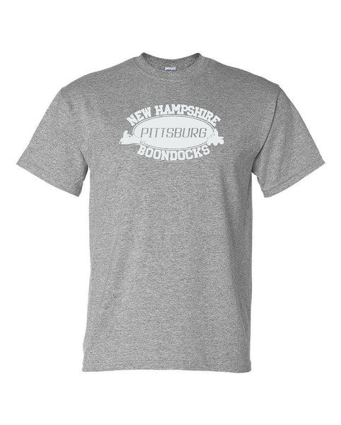 Boondocks T-Shirt • PITTSBURG, NEW HAMPSHIRE, Snowmobile & 4-Wheeler Logo