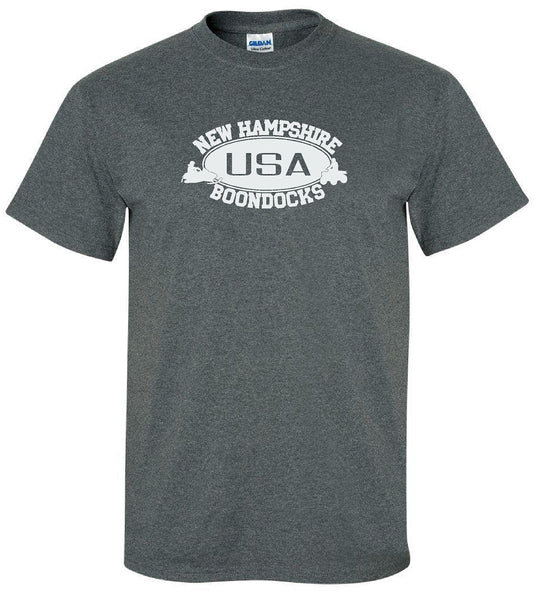 Boondocks T-Shirt • NEW HAMPSHIRE USA, Snowmobile & 4-Wheeler Logo