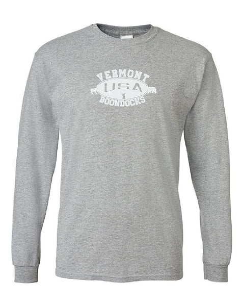 Boondocks Long Sleeve T-Shirt • VERMONT Deer Bear & Moose logo