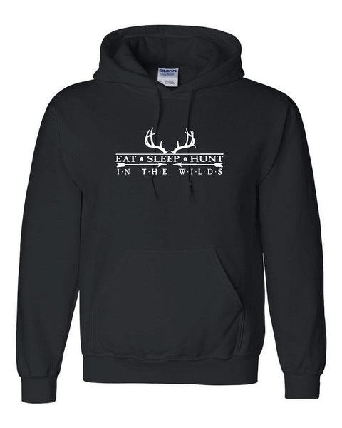 HUNT IN THE WILDS with Antlers Pullover Hooded Sweatshirt
