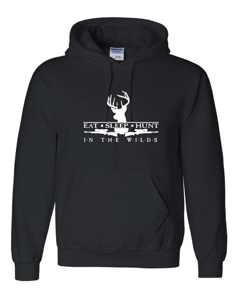 HUNT IN THE WILDS with Buck & Rifles Pullover Hooded Sweatshirt