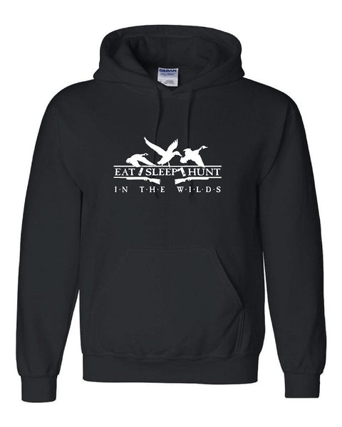 HUNT IN THE WILDS with Duck & Geese Pullover Hooded Sweatshirt