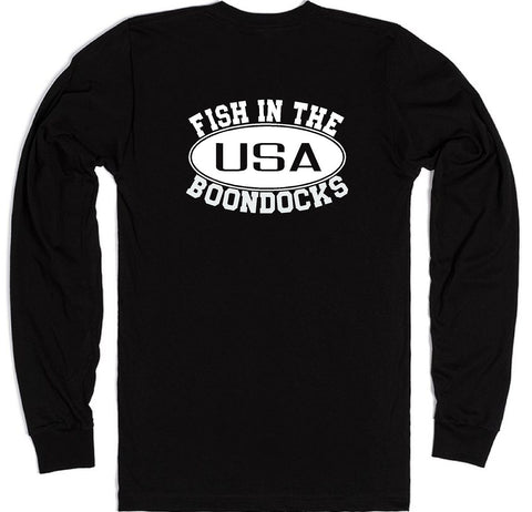 Boondocks Long Sleeve FISH IN THE BOONDOCKS logo