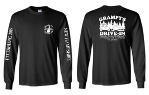 GRAMPY'S DRIVE-IN Long Sleeve T-Shirt • Snowmobile & 4 Wheeler With Sleeve Prints