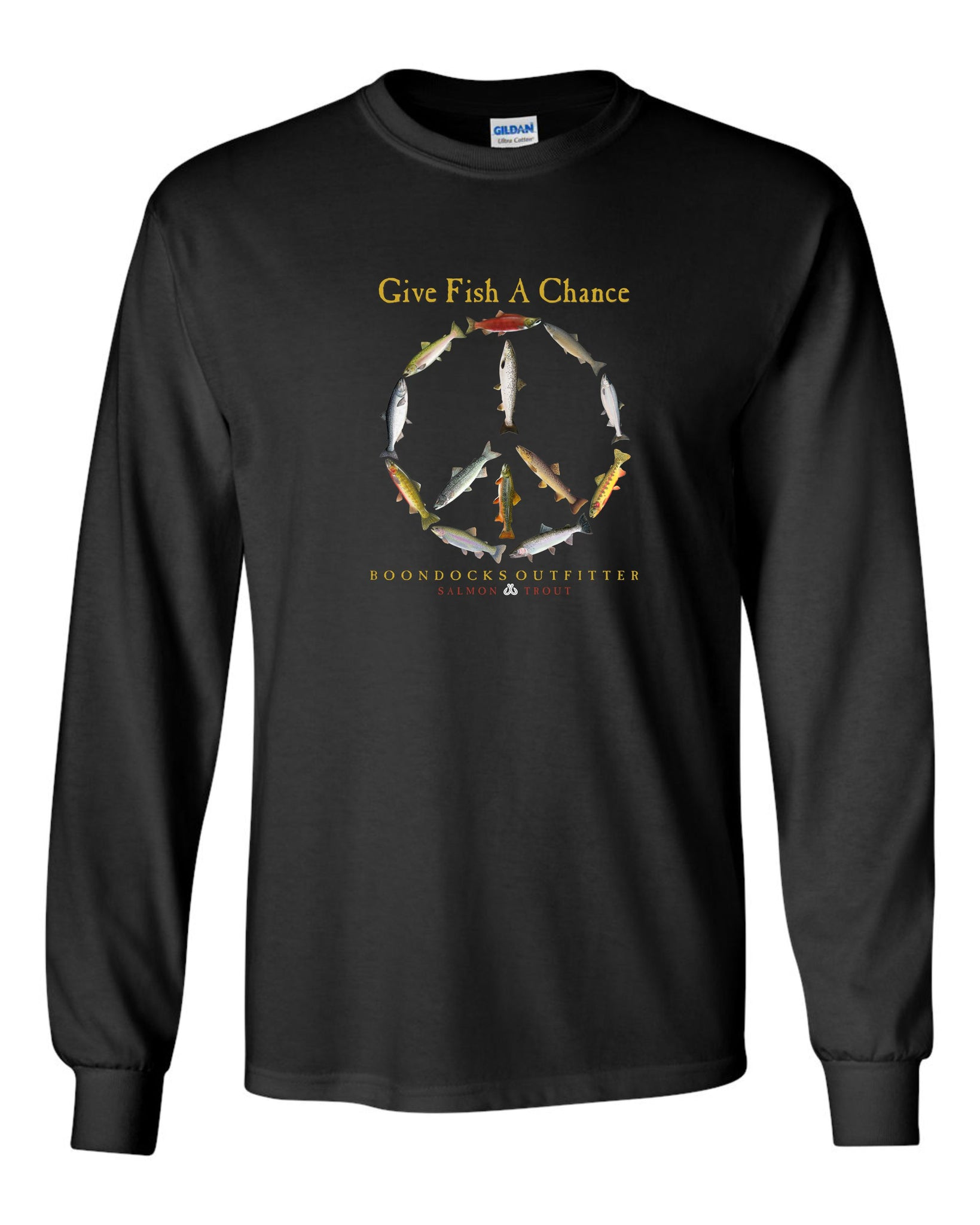 GIVE FISH A CHANCE • SALMON & TROUT Long Sleeve T-SHIRT