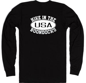 Boondocks Long Sleeve HIKE IN THE BOONDOCKS logo