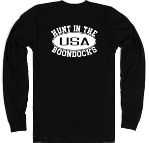 Boondocks Long Sleeve HUNT IN THE BOONDOCKS logo