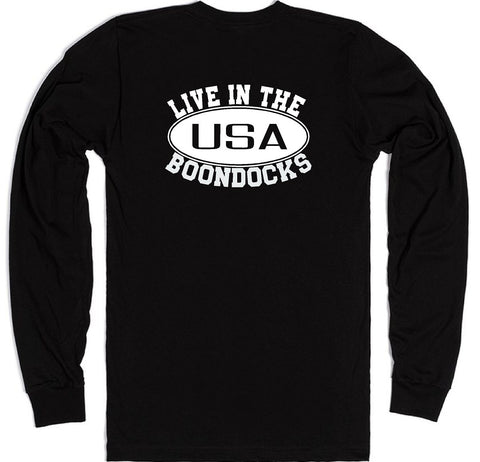Boondocks Long Sleeve LIVE IN THE BOONDOCKS logo