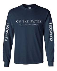 ON THE WATER Navy Blue Long Sleeve Tee