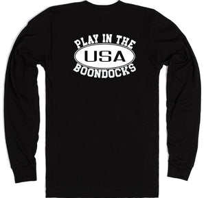 Boondocks Long Sleeve PLAY IN THE BOONDOCKS logo