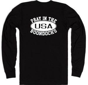 Boondocks Long Sleeve PRAY IN THE BOONDOCKS logo