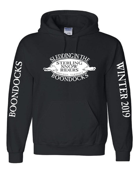 SLED IN THE WILDS® • STERLING SNOW RIDERS • JOHNSON, VERMONT-HOODIES