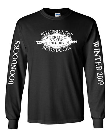 SLED IN THE WILDS® • STERLING SNOW RIDERS • JOHNSON, VERMONT long sleeve tee