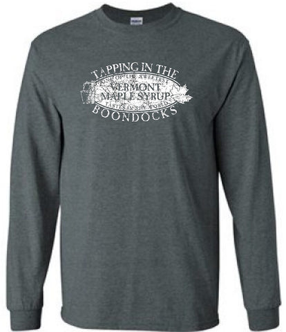 TAPPING IN THE BOONDOCKS Distressed Logo-CREW NECK SWEATSHIRTS