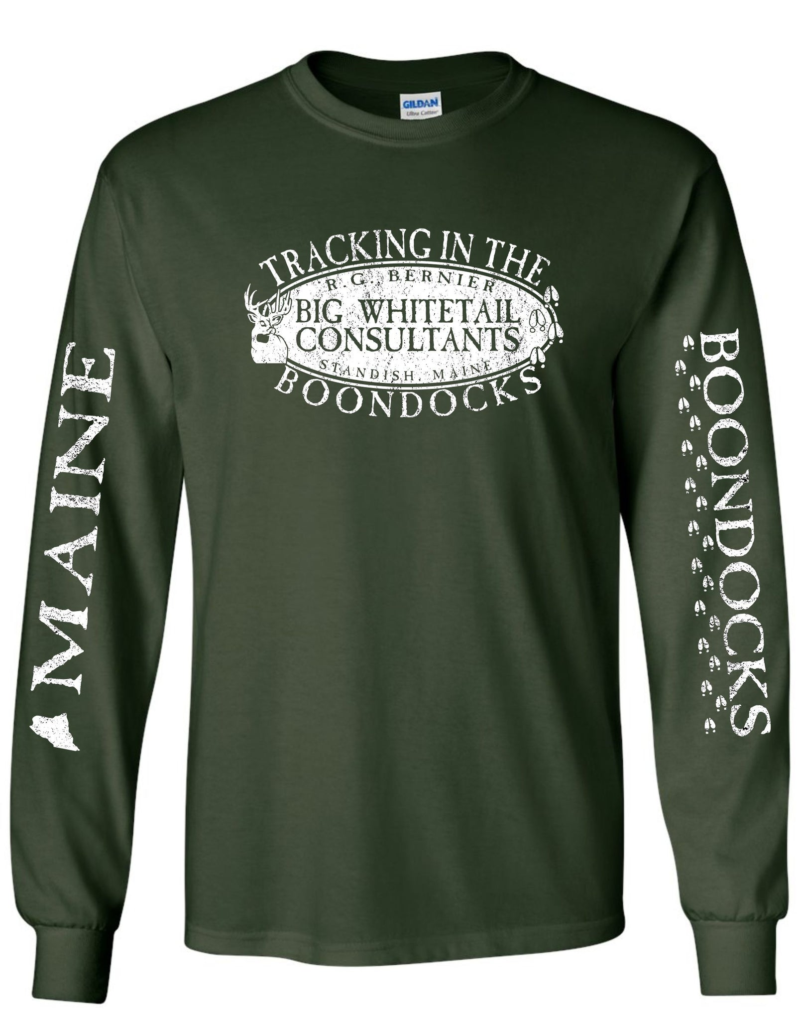 Boondocks Long Sleeve Tee TRACKING IN THE BOONDOCKS • R.G. BERNIER MAINE