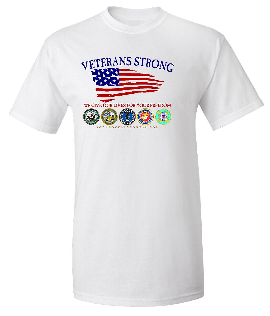 VETERANS STRONG Short sleeve Comfort Colors Heavyweight Tee