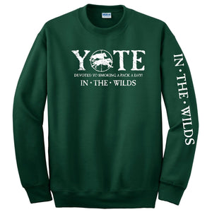 YOTE PACK A DAY •  IN THE WILDS® long sleeve tee with Left Sleeve Print