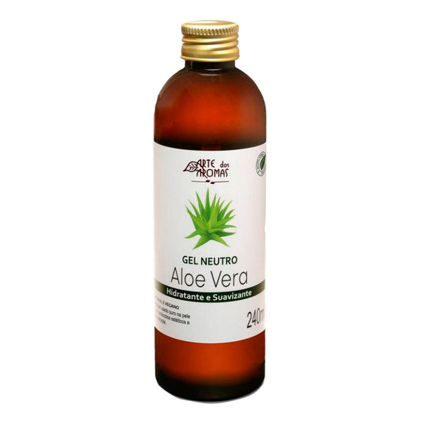 Arte dos Aromas Gel Neutro Natural de Aloe Vera Natural Vegano