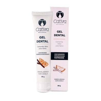 Gel Dental Natural Laranja com Canela da Cativa Natureza