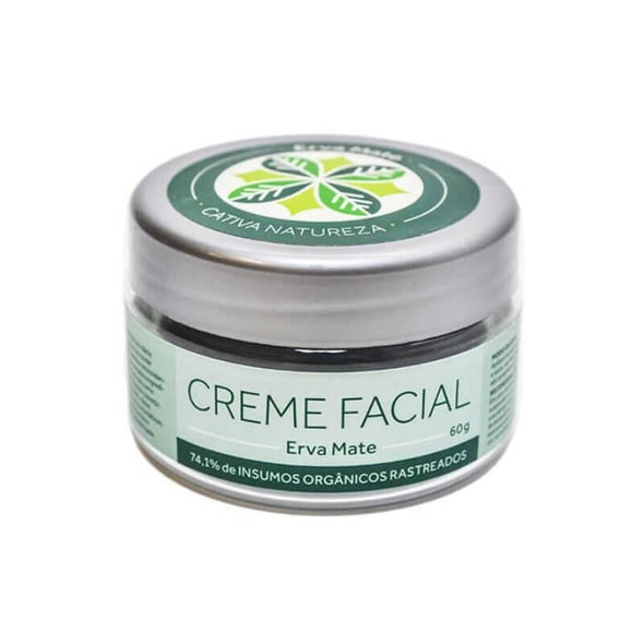 Creme Facial Natural Erva Mate Vegano Cativa Natureza