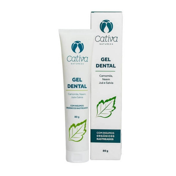 Gel Dental Natural Menta Vegano Cativa Natureza