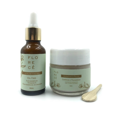 Kit Facial Natural Creme Hidratante Sérum Florecê