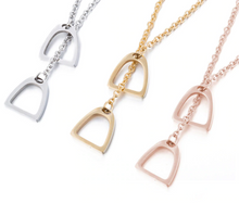 Load image into Gallery viewer, The Rider's Stirrup Necklace - All Colors