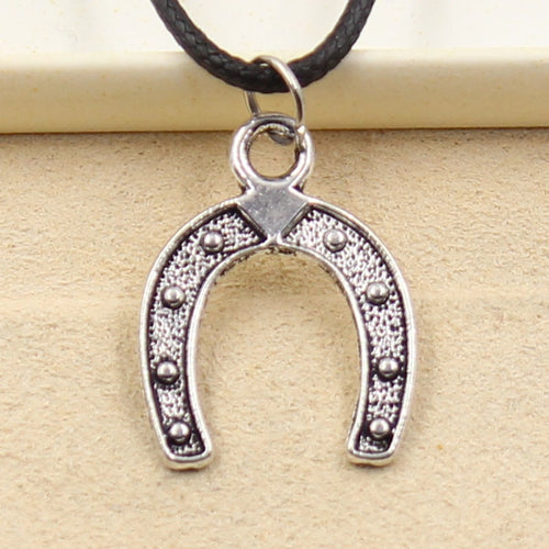 The Rider's Horseshoe Pendant Necklace