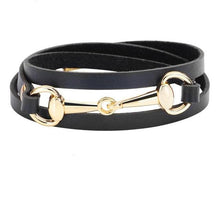 Load image into Gallery viewer, The Rider's Leather Bit Bracelet - All Colors