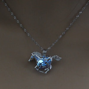 The Rider's Luminous Horse Necklace