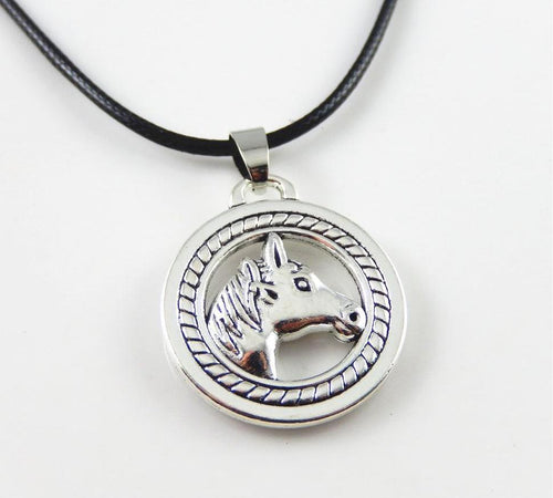 The Rider's Horse Pendant Necklace