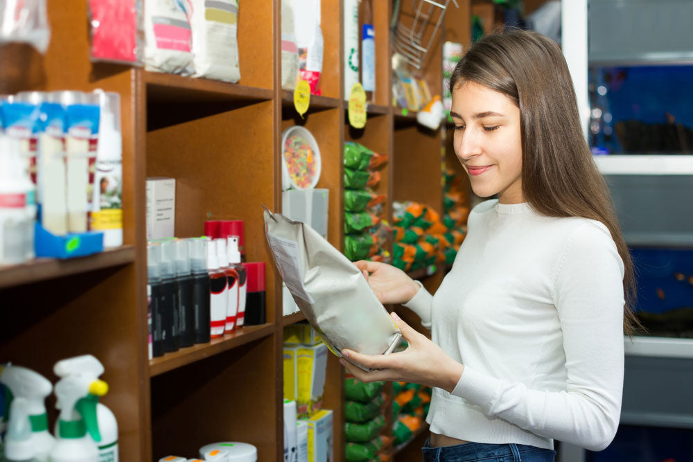 Looking at nutrition label