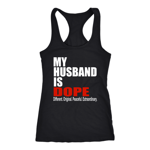 My Husband is Dope-Racerback